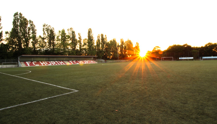 Stadion Sonnenuntergang