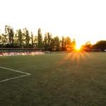 Sonnenuntergang Stadion